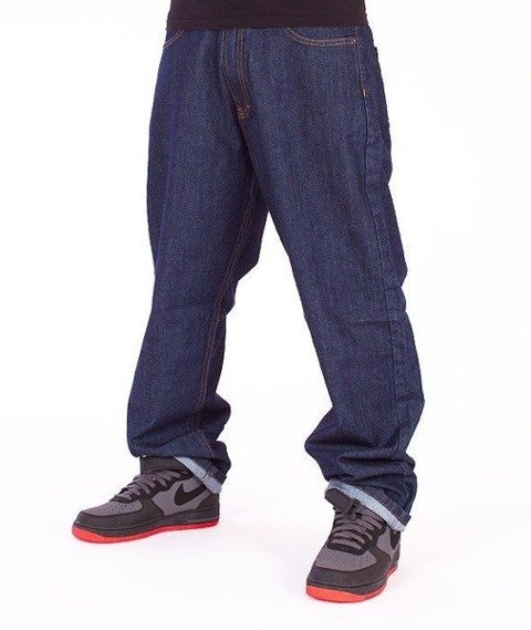 SmokeStory-City Baggy Jeans Dark Blue