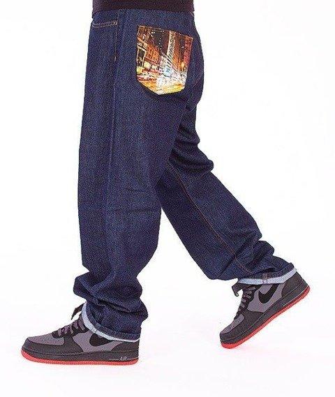 SmokeStory-City Baggy Jeans Dark Blue