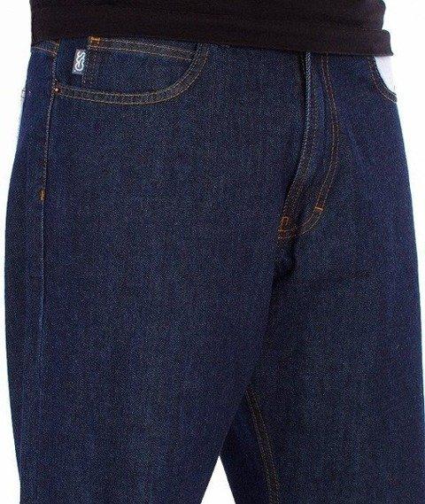 SmokeStory-City Pocket Baggy Jeans Dark Blue