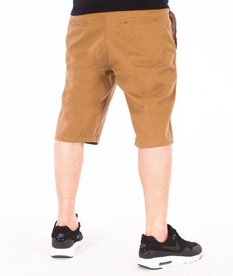 SmokeStory-Classic Krótkie Spodnie Slim Beżowe