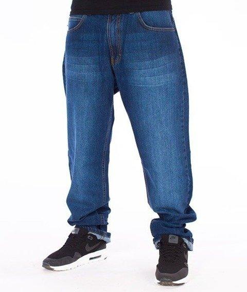 SmokeStory-Classic Regular Jeans Spodnie Wycierane Niebieskie