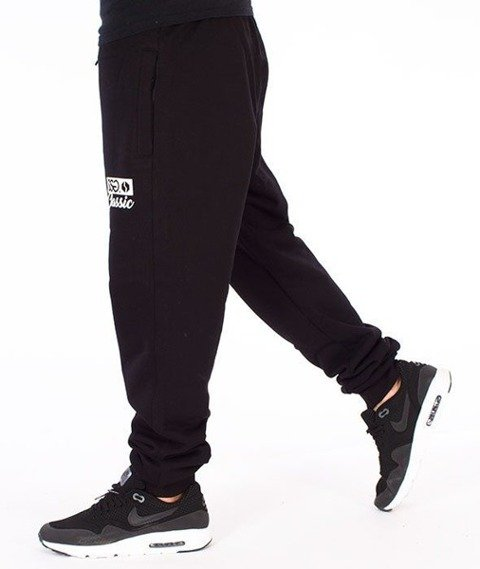 SmokeStory-Classic Slim Spodnie Dresowe Czarne