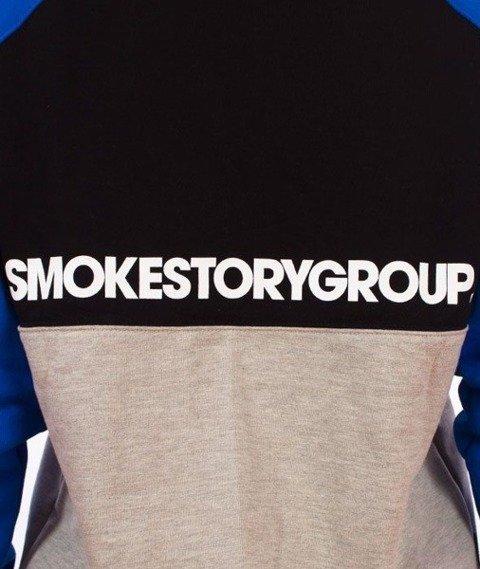 SmokeStory-Colorfull Bluza Kaptur Premium Czarny/Granatowy