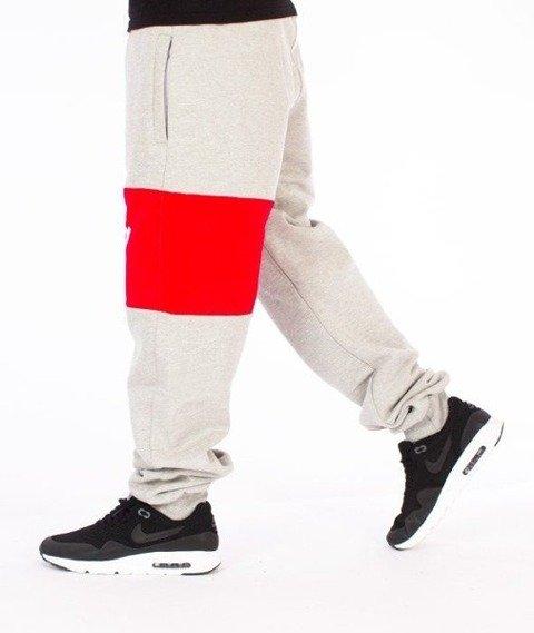 SmokeStory-Colors Line Regular Spodnie Dresowe Szare