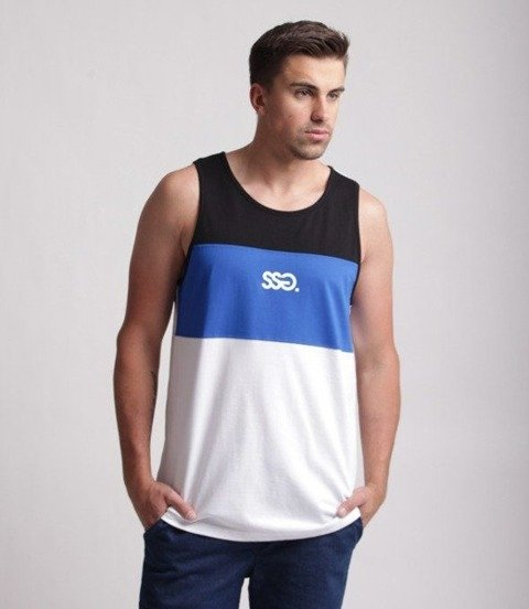 SmokeStory-Colors Small SSG Tank Top Biało Chabrowy