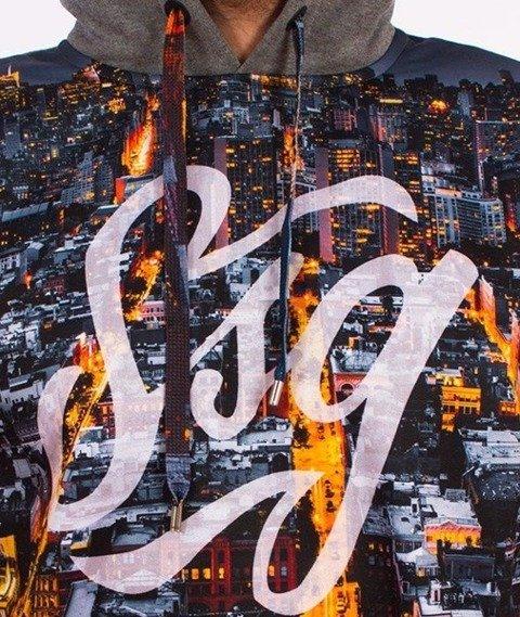 SmokeStory-Dark City Tag Bluza Kaptur Grafitowa