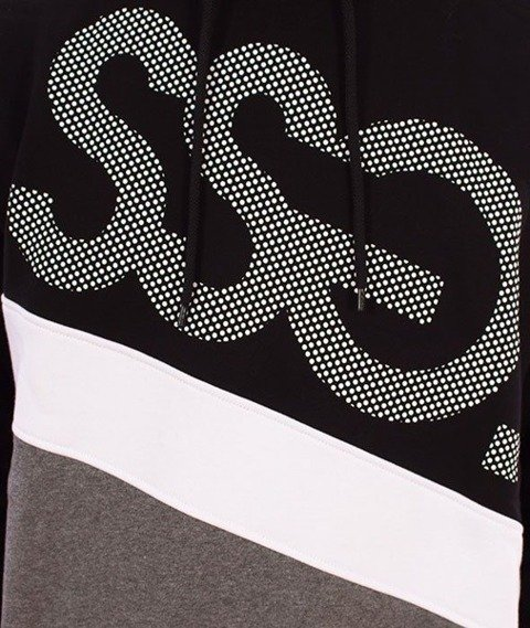 SmokeStory-Dots Triple Bluza Kaptur Czarny/Ciemny Szary