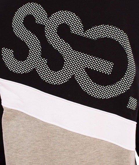 SmokeStory-Dots Triple Crewneck Bluza Czarny/Jasny Szary