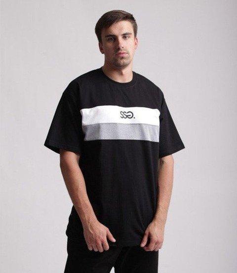 SmokeStory-Double Lines T-Shirt Czarny