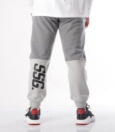 SmokeStory-Double SSG Spodnie Jogger Ciemny Szary