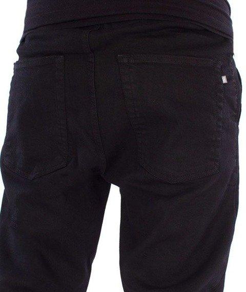 SmokeStory-Jeans Stretch Skinny Guma Spodnie Czarny Jeans
