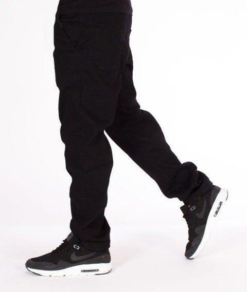SmokeStory-Jeansy Stretch Straight Fit Guzik Spodnie Czarny Jeans