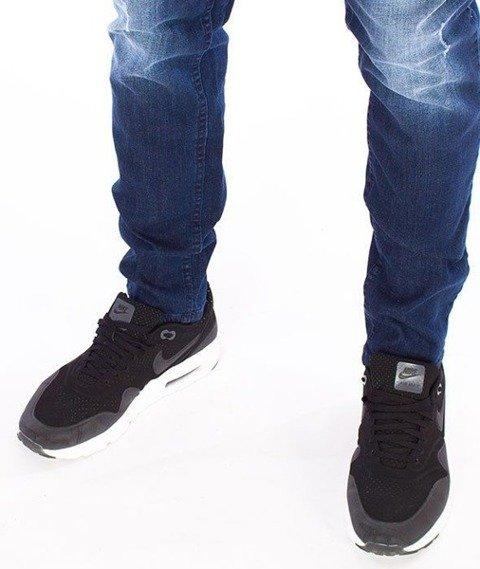 SmokeStory-Jeansy Stretch Straight Fit Premium Guma Dark Przecierane