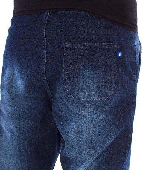 SmokeStory-Jogger Premium Jeans Wycierane Slim Guma Dark Przecierane