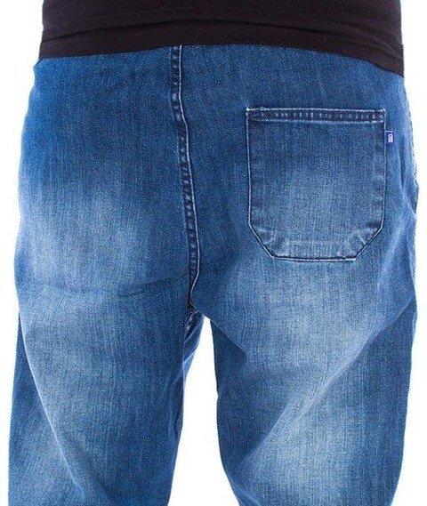 SmokeStory-Jogger Premium Jeans Wycierane Slim Guma Medium Przecierane