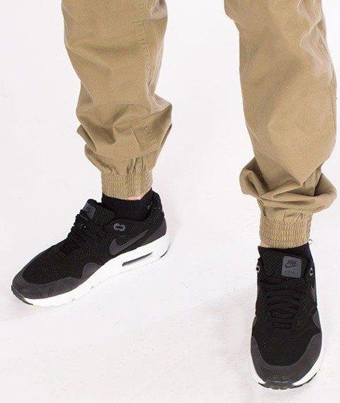 SmokeStory-Jogger Regular Classic Spodnie Beżowe