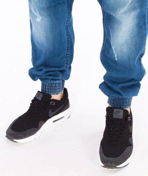 SmokeStory-Jogger Regular Guma Light Jeans Lekko Przecierane