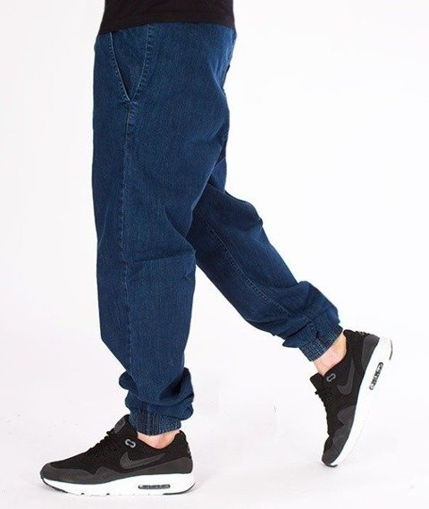 SmokeStory-Jogger Regular z Gumą Jeansowe Medium