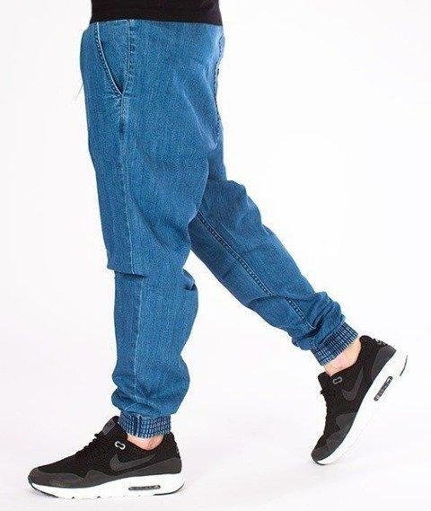 SmokeStory-Jogger Slim Jeans Classic Guma Spodnie Light Blue