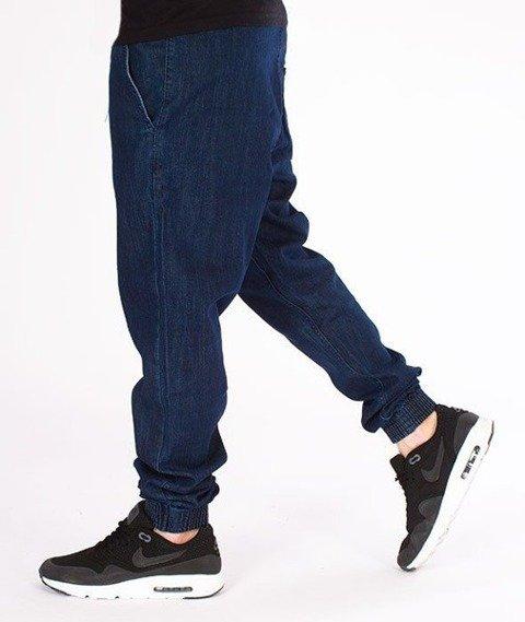 SmokeStory-Jogger Slim Jeans Classic Guma Spodnie Medium Blue
