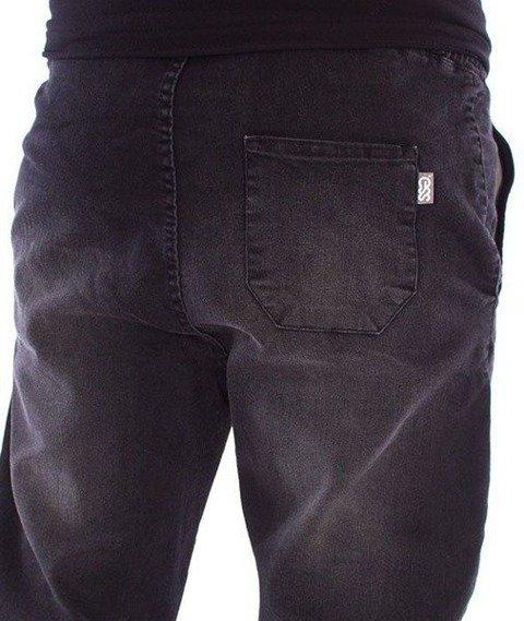 SmokeStory-Jogger Slim Jeans Slim Black Spodnie Czarny Przecierany