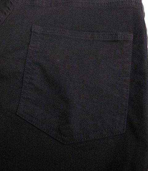 SmokeStory-Lampas Czarny Krótkie Spodnie Czarny Jeans