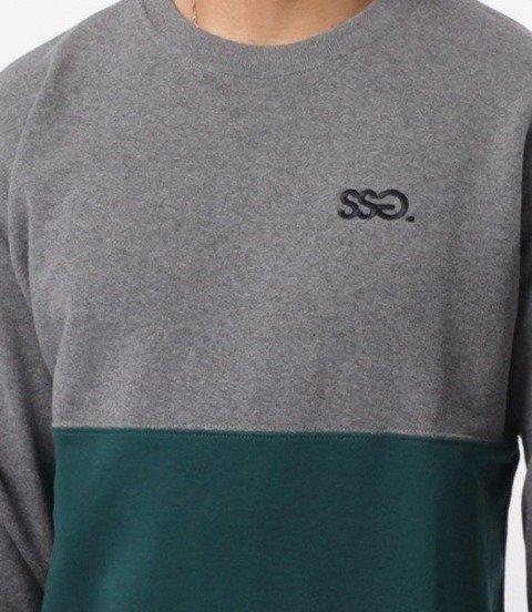 SmokeStory-Loght Half Bluza Ciemny melanż zielony