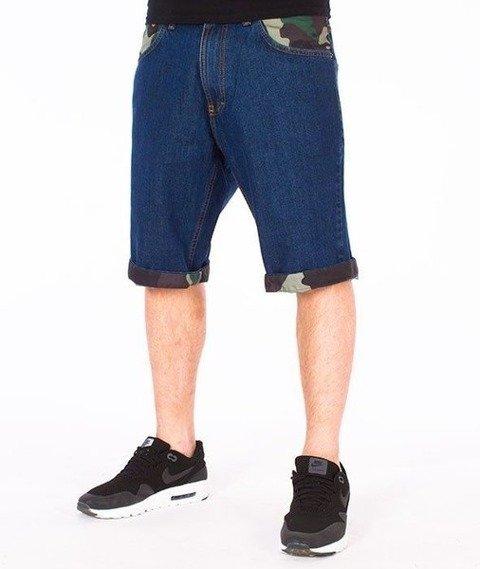 SmokeStory-Moro Wstawki Szorty Jeans Spodnie Krótkie Medium Blue