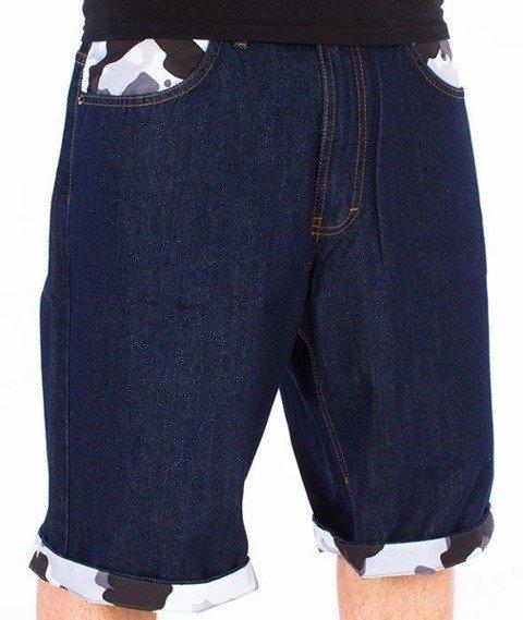 SmokeStory-Moro Wywinięcie Jeans Spodnie Krótkie Dark Blue