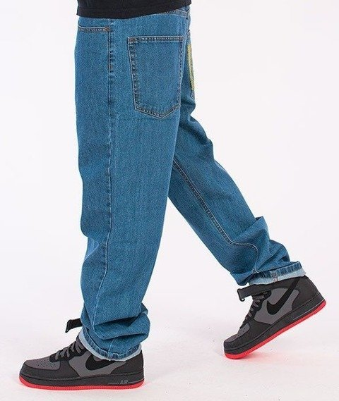 SmokeStory-New Logo Regular Jeans Light Blue