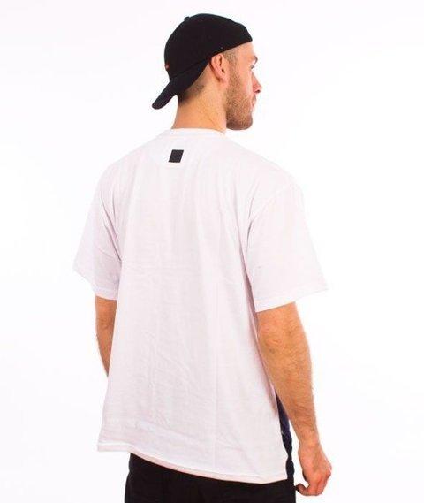 SmokeStory-One Line T-Shirt Biały/Granat