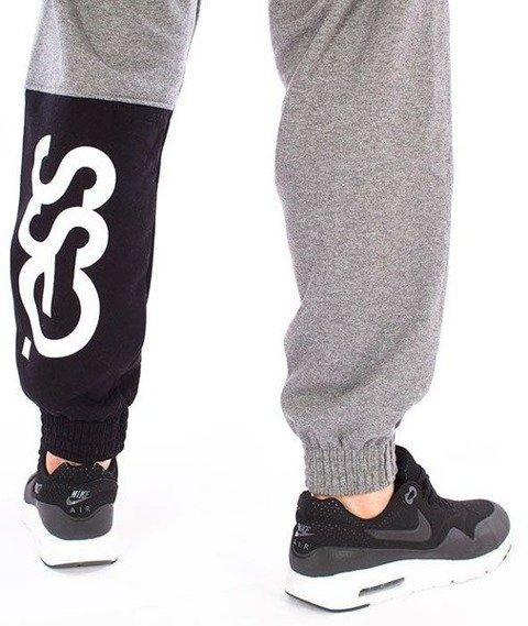 SmokeStory-One Side Big Jogger Spodnie Dresowe Ciemny Melanż