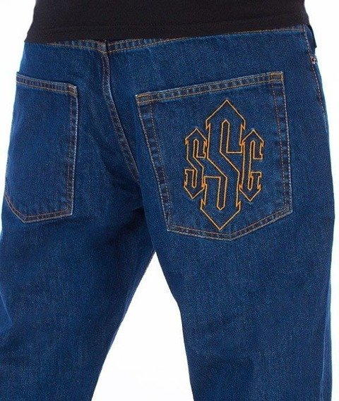 SmokeStory-Outline Slim Jeans Medium Blue