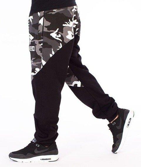 SmokeStory-Premium Moro Front Back Spodnie Dresowe Moro Szare