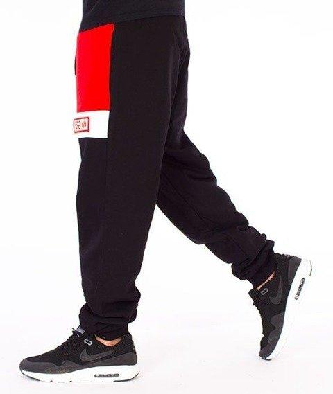 SmokeStory-Premium Triple Colors Spodnie Dresowe Czarne