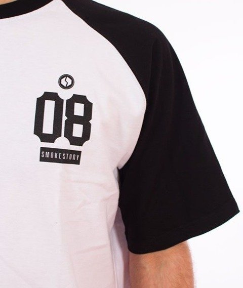 SmokeStory-Raglan 08 T-Shirt Biały