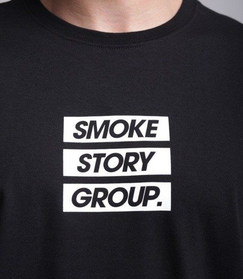 SmokeStory-SMG Three Lines Longsleeve Czarny