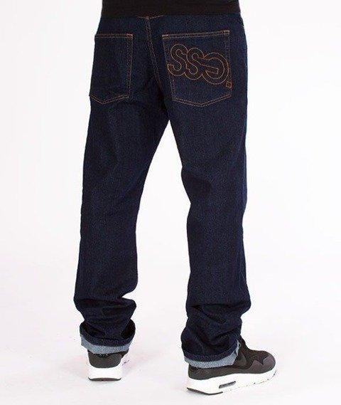 SmokeStory-SSG Big Outline Slim Jeans Dark Blue