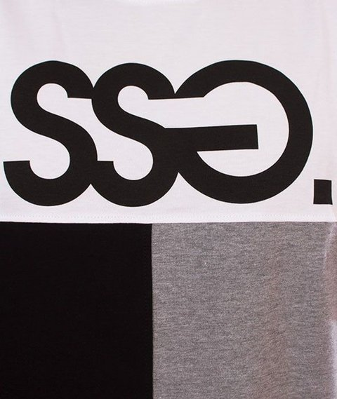 SmokeStory-SSG Cut Bottom T-Shirt Biały