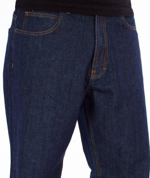SmokeStory-SSG Tag Baggy Jeans Dark Blue