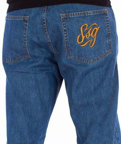 SmokeStory-SSG Tag Baggy Jeans Light Blue