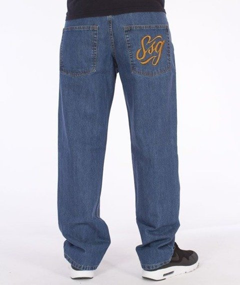 SmokeStory-SSG Tag Regular Jeans Light Blue