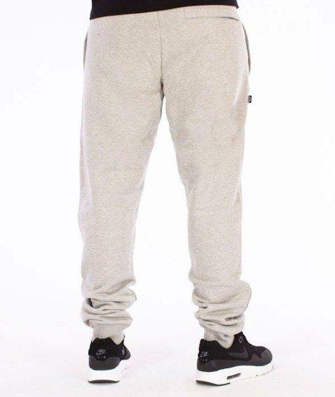 SmokeStory-Sign Slim Spodnie Dresowe Szare