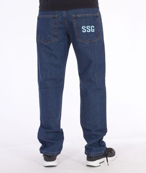 SmokeStory-Simple Slim Jeans Medium Blue