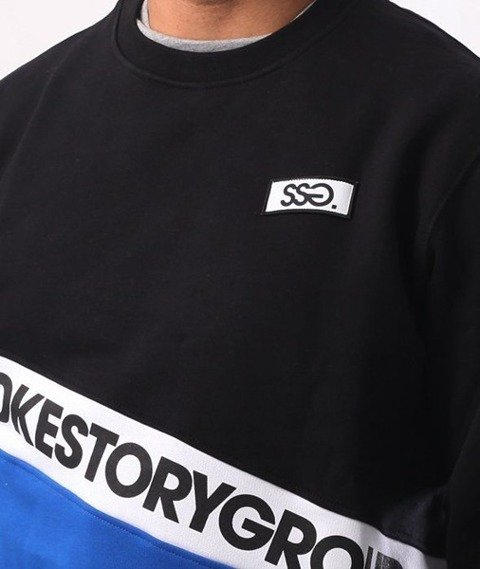 SmokeStory-Slant SMG Crewneck Bluza Czarny Chaber