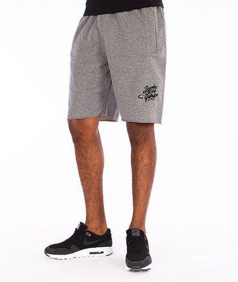 SmokeStory-Small Tag Krótkie Spodnie Grafitowe
