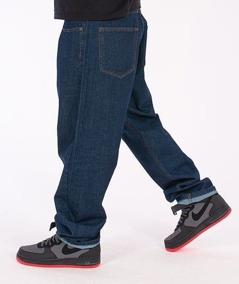 SmokeStory-Smoke Baggy Jeans Dark Blue