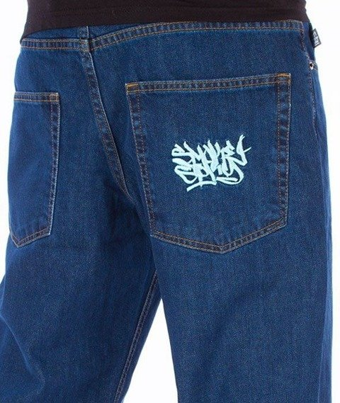 SmokeStory-Smoke Tag Regular Jeans Medium Blue