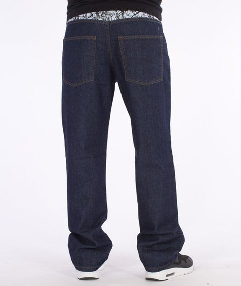 SmokeStory-Splash Regular Jeans Dark Blue