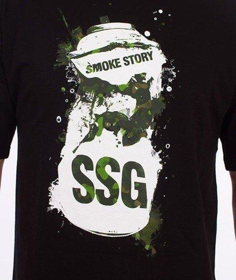 SmokeStory-Spray T-Shirt Czarny